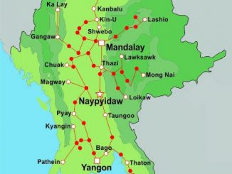 Myanmar Train Map