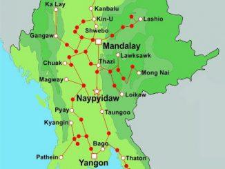 Myanmar Train Map