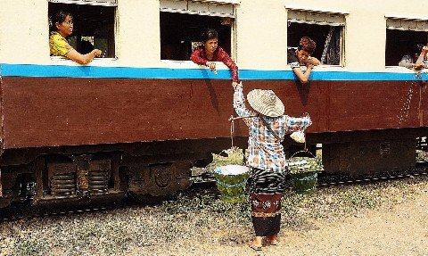 Travel by train in Myanmar is an adventure