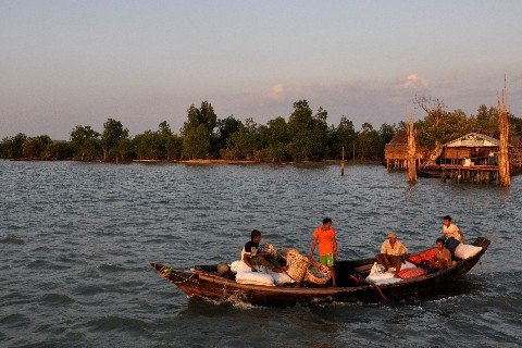 Mawlamyine is on the Salween river delta