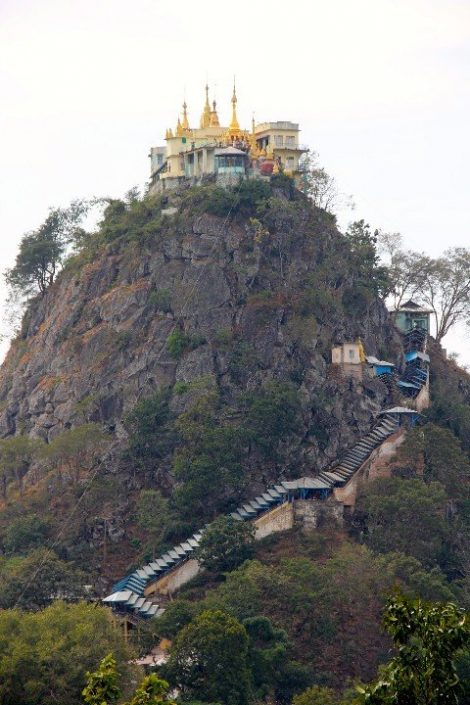Mount Popa is near to Kyaukpadaung