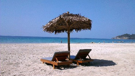Ngapali Beach is the most famous beach resort in Myanmar
