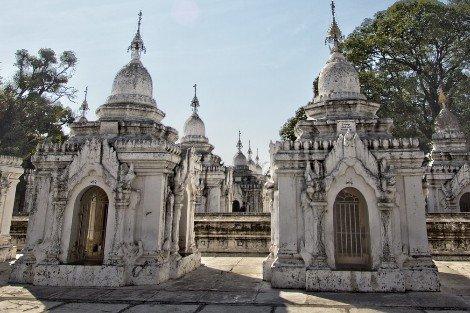Kuthodaw Pagoda in Mandalay