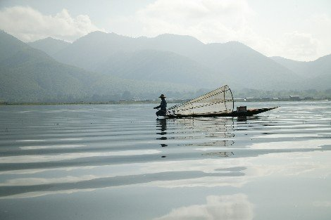 Fishing on Inle Lake
