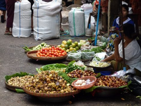 Theingyi Market in Yangon