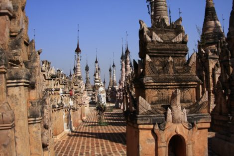 There are thousands of stupas at Kakku Pagoda Complex