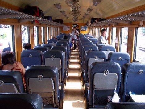 2nd Class Fan carriage on a Thai train