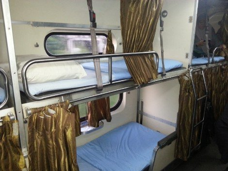 Sleeper berth on a Malaysia Train Service