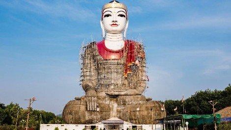 Sitting Big Buddha at Khat Ya Khat Yu Pagoda near Mawlamyine