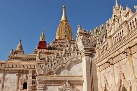 Ananda Temple is located inside the Bagan Archaeological Zone